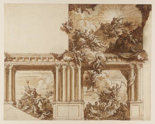 Image of James Thornhill's: A Ceiling and Wall Decoration circa 1715-25, purchased as part of the Oppé Collection with assistance from the National Lottery through the Heritage Lottery Fund 1996 http://www.tate.org.uk/art/work/T08143