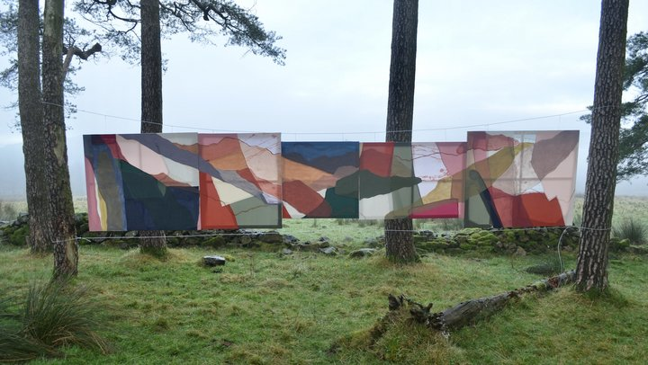 Image of Siobhan McLaughlin's mixed material depiction of Landscape in Lockdown